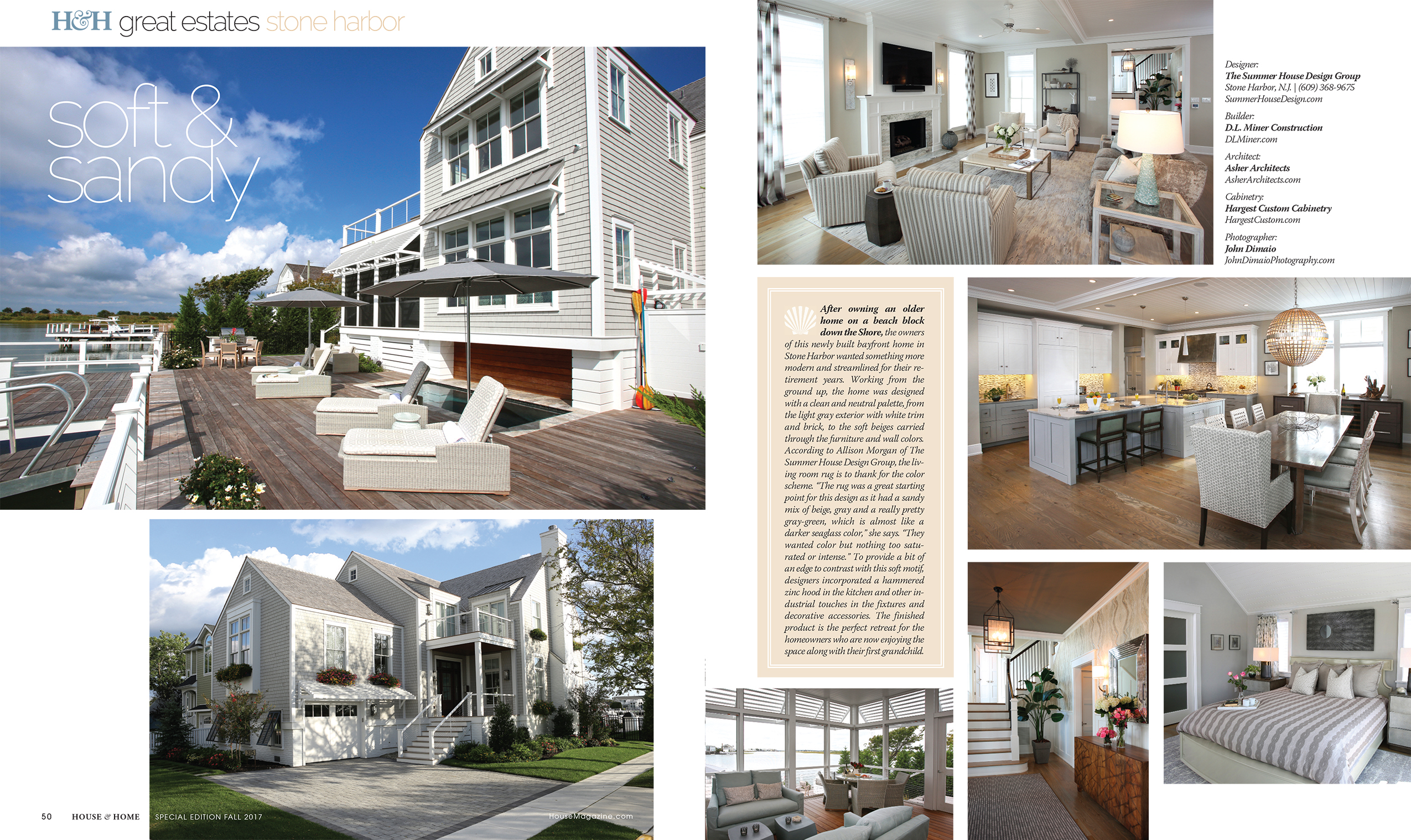 Great Estates Issue in House and Home | D. L. Miner Construction